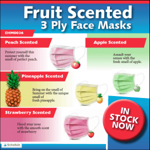Box of 50 fruit scented 3-ply masks